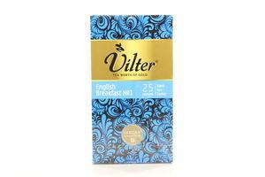 Чай черный с ароматом бергамота English Breakfast №1 Vilter к/у 25х2г