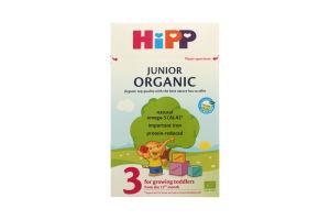 Молочко сухое для детей от 12мес Organic 3 Junior Hipp к/у 500г