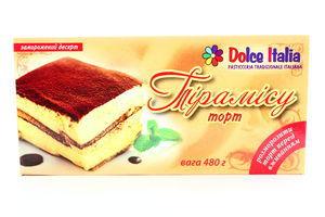 Морозиво торт Dolce Italia Тірамісу 480г