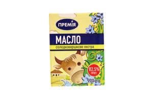 Масло Премія сладкосливочное экстра 82,5%