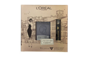 Набор декоративной косметики Тушь для ресниц Volumissime x5 Carbon Black+Мицеллярная вода L'Oreal 1шт