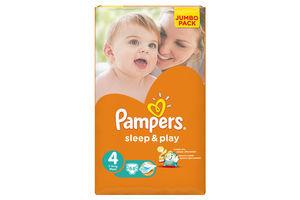 Подгузники Jumbo Pack Sleep&Play Chamomile Maxi Pampers 4 7-18кг 68шт