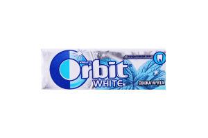 Резинка жевательная без сахара Свежая мята White Orbit м/у 14г