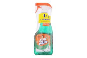 Набор средство моющее для стекла и поверхностей Утренняя роса+запаска Mr.Muscle 1шт