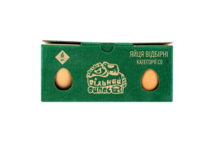 Яйца куриные С0 Свободный выпас Лавка Традицій 6шт