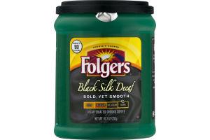 Folgers Black Silk Decaf Decaffeinated Ground Coffee Dark