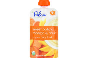 Plum Organics Baby Food Sweet Potato Mango & Millet Stage 2