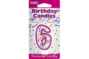 Culpitt Birthday Candles Numeral Candle 6