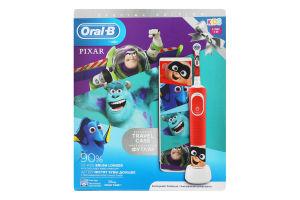 Щітка зубна електрична для дітей від 3років в ексклюзивному футлярі Pixar Oral-B 1шт
