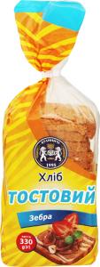 Хліб тостовий Зебра Кулиничі м/у 330г