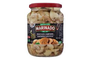 Шампиньоны вареные резаные Маринадо с/б 620г