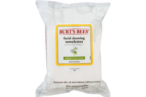 Burt's Bees Facial Cleansing Towelettes with Cotton Extract - 30 CT