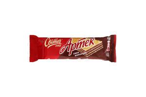 Вафлі зі смаком шоколаду Артек Світоч м/у 80г