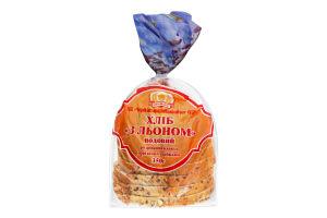 Хліб подовий половинка в нарізці З льоном Формула смаку м/у 350г