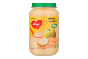 Пюре фруктове для дітей від 6міс Яблуко з печивом Milupa с/б 190г