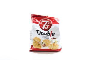 Мини круассаны с двойным кремом Какао-ваниль Double 7 Days м/у 65г