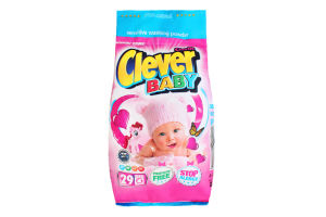 Порошок стиральный для детской одежды Clever Baby Clovin 400г