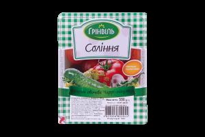Соления Ассорти овощное Черри-пикуль Грінвіль в/у 550г