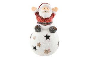 Украшение декор Веселый Санта LED в ассорт D`1