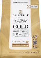 Шоколад 30.4% білий з карамеллю Gold Callebaut м/у 2.5кг