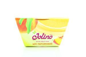 Десерт фруктовый мусс персиковый Jolino 95г