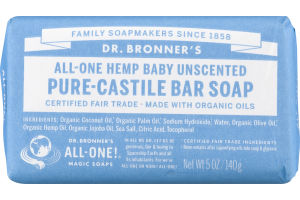 Dr. Bronner's All-One Hemp Baby Unscented Pure-Castile Bar Soap