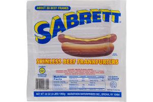 Sabrett Skinless Beef Frankfurters - 30 CT