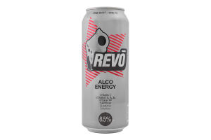 Напиток слабоалкогольный 0.5л 8-8.5% энергетический Revo ж/б