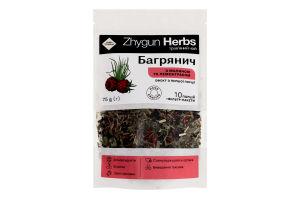 Чай трав'яний з малиною та лемонграсом Багрянич Zhygun Herbs д/п 75г