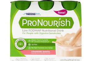 Nestle ProNourish Low Fodmap Nutritional Drink Strawberry Banana - 6 CT