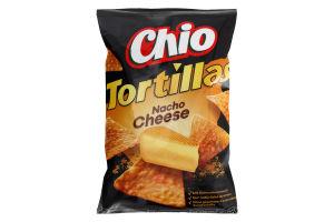 Чіпси кукурудзяні зі смаком сиру Начо Tortillas Chio м/у 125г