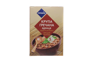 Крупа гречневая в пакетиках Ядрица Премія к/у 5х80г