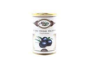 Маслины с косточкой большие греческие Milatos ж/б 420г