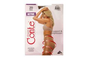 Колготы женские Conte Active Modelling 20den 4-L bronz