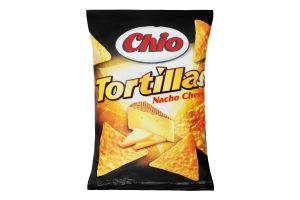 Чипсы кукурузные со вкусом сыра Начо Tortillas Chio м/у 125г