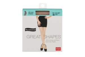 No nonsense Great Shapes Pantyhose All Over Shaper Size B Beige Mist Sheer Toe - 1 PR