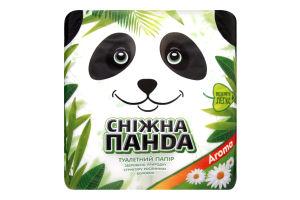 Бумага туалетная 2-х слойная Aroma Сніжна панда 4шт