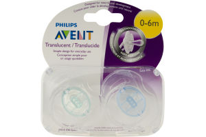 Philips Avent Translucent Orthodontic Pacifiers - 2 CT