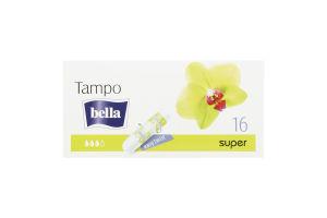 Тампоны Tampo Premium comfort Super б/апл Bella 16шт
