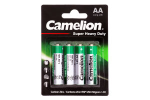 Батарейки АА 1.5V R6P-BP4G Super Heavy Duty Camelion 4шт