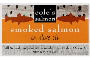 Cole's Smoked Salmon in Olive Oil