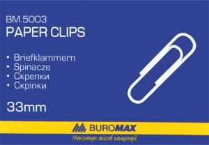 Скріпки 33мм №BM.5003 Buromax 100шт