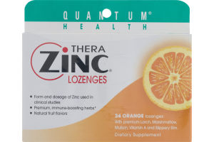 Quantum Health Thera Zinc Lozenges Orange - 24 CT