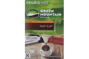 Green Mountain Coffee Medium Roast Coffee K-Cup Pods Half-Caff - 12 CT