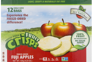 Brothers All Natural Fruit Crisps Freeze-Dried Fuji Apples - 12 PK