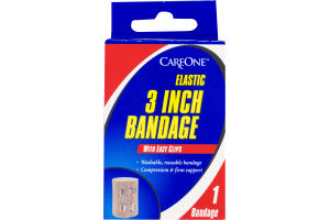 CareOne Elastic 3 Inch Bandage With Easy Clips