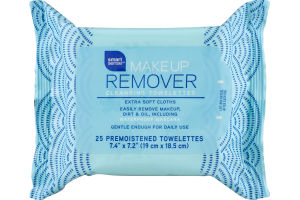 Smart Sense Makeup Remover Cleansing Towelettes - 25 CT