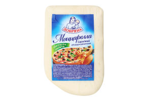 Сыр 45% мягкий Моццарелла для пиццы и сэндвичей Добряна кг