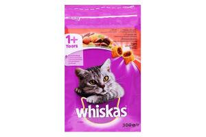 Корм для взрослых котов с говядиной Whiskas м/у 300г