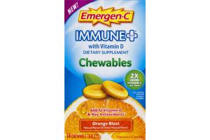 Emergen-C Immune Plus Dietary Supplement Chewables Orange Blast - 14 CT